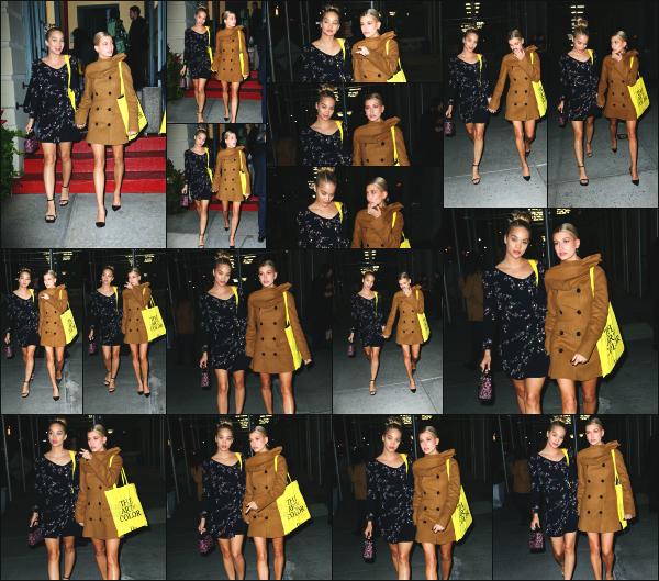 - 25.10.16 ─ Notre sulfureuse Hailey Baldwin est aperçue alors qu'elle quittait l'event de Dior avec une amie à NY ![/s#00000ize]H. était accompagnée de son amie Bella Hadid lors de cet évènement et elles étaient toute les deux très jolie. Hails rejoignait son hôtel avec une amie ! -