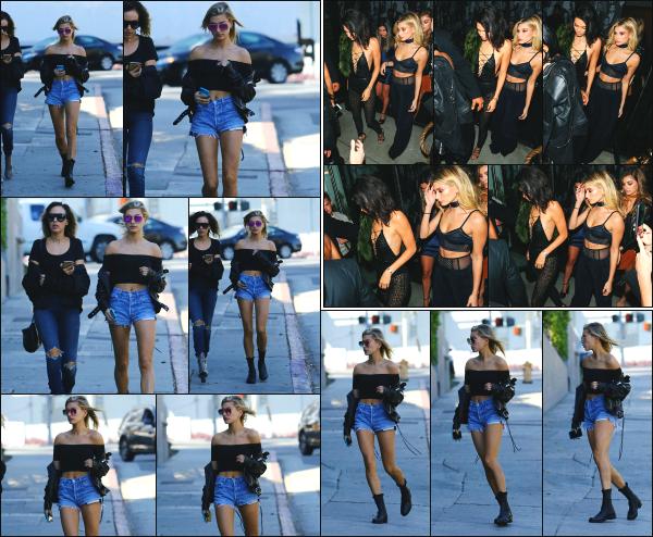 - 02.11.16 ─ Notre Hailey Baldwin est aperçue alors qu'elle se baladait avec une amie dans les rues de Beverly Hills! [/s#00000ize]Un peu plus tard, elle est aperçue dans West Hollywood, puis, en compagnie de son amie Kendall Jenner, arrivant et quittant le restaurant Catch LA. Top !   -