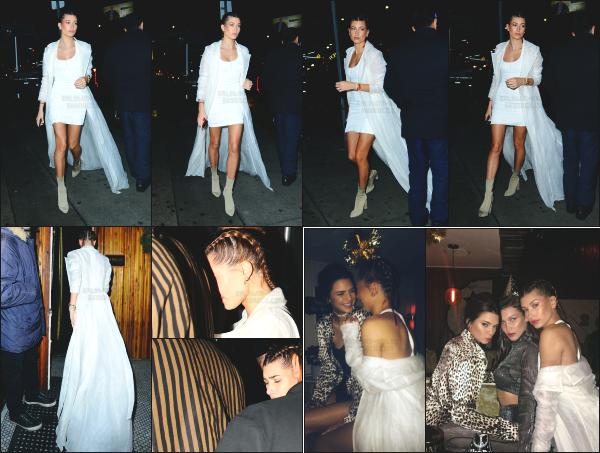 - 31.12.16 ─ Hailey B. est aperçue alors qu'elle venait d'arriver dans la célèbre boîte « The Nice Guy » à Los Angeles.  [/s#00000ize]Hailey à passé la soirée du nouvel an dans cette boîte de nuit en compagnie de ses amies Kendall Jenner et Bella Hadid. Je la trouve très belle !  Un top -