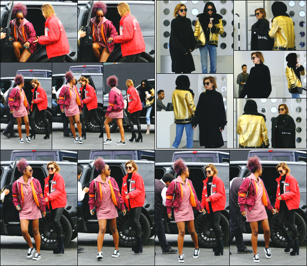- 02.01.17 ─ Notre Hailey Baldwin est aperçue alors qu'elle arrivait au magasin « Maxfield » dans West Hollywood !  [/s#00000ize]Hailey à passé la journée en compagnie de son amie Kendall Jenner pour aller faire un peu de shopping. C'est une tenue très basique qu'elle porte, jolie. -