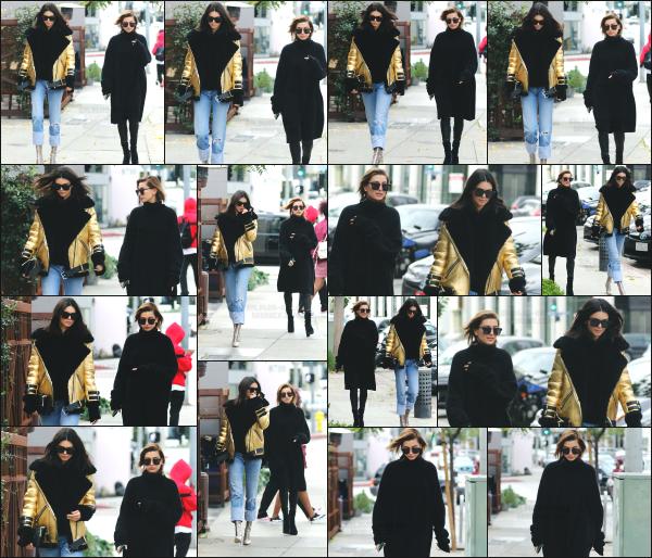 - 02.01.17 ─ Notre Hailey Baldwin est aperçue alors qu'elle quittait le magasin « Maxfield » dans West Hollywood !  [/s#00000ize]Hailey à passé la journée en compagnie de son amie Kendall Jenner pour aller faire un peu de shopping. C'est une tenue très basique qu'elle porte, jolie. -