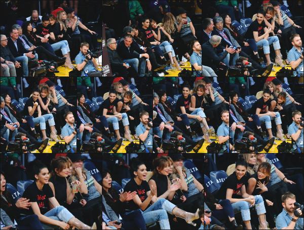 - 03.01.17 ─ Hails est allé voir un match de basket confrontant les Lakers de Los Angeles au Grizzlies de Memphis ! [/s#00000ize]Hailey était de nouveau en compagnie de son amie Kendall Jenner. Les deux jeunes femmes ne se quittent plus en se début d'année 2017. Un jolie top ! -