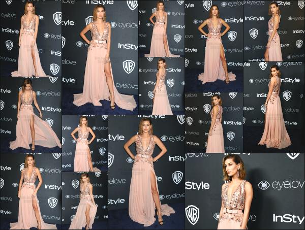- 08.01.17 ─ Hailey Baldwin était présente à la soirée évènement « Post-Golden Globes Party » dans Los Angeles ! [/s#00000ize]La 18eme cérémonie se passait au Beverly Hilton Hôtel ! J'ai un énorme coup de coeur pour la tenue qu'elle portait lors de cette soirée! Un très beau top -
