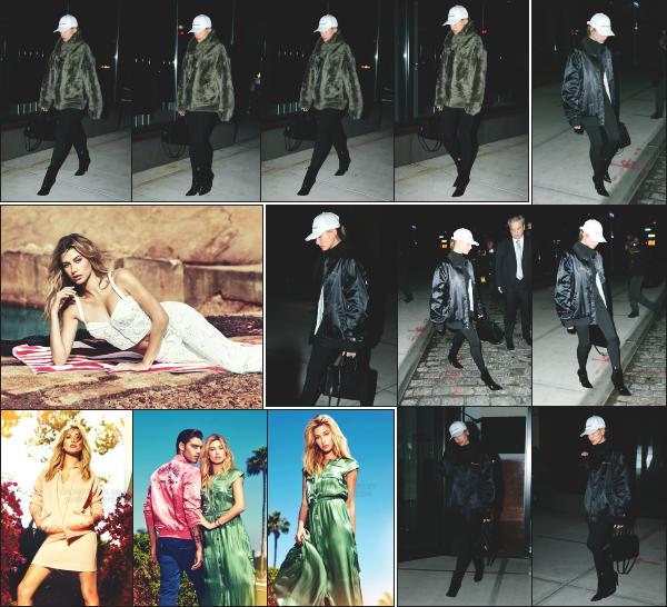 - 15.01.17 ─ Hailey Baldwin est photographiée en arrivant et en quittant l'appartement de Gigi Hadid à Manhattan ! [/s#00000ize]Hailey n'en finit pas de passer du temps avec ses amies en se moment, entre Kendall et Gigi Hadid. Quelques photos du shoot  pour Guess sont sorties ! -