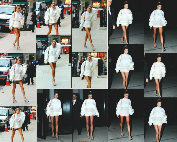 - 15.02.17 ─ Notre Hailey Baldwin est photographiée allant et quittant l'appartement d'un de ses amis à Manhattan[/s#00000ize]Hailey était habillé de façon très classe je trouve, certainement pour l'occasion du défilé ou elle venait d'assister. C'est un jolie top pour cette sortie. Avis ? -