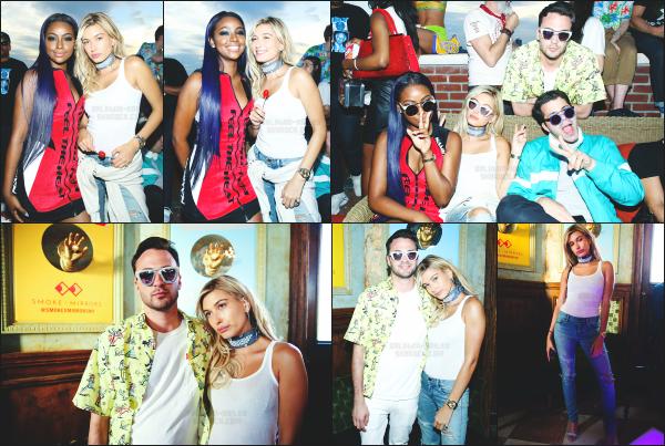 - 15.06.16 ─ Hail' Baldwin était présente au  « Smoke x Mirrors Presents : Sodapop » avec Justine Skye à New York ![/s#00000ize]C'est avec une tenue très estivale que Hailey s'est rendue a cet évènement en compagnie de son amie Justine Skye. Sa tenue est mignonne, un beau top  -