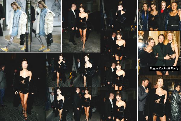- 03.03.17 ─ Hailey' Baldwin est photographiée alors qu'elle arrivait au dîner organisé pour « Vogue » dans Paris ![/s#00000ize]La célèbre Gigi Hadid était également de la partie lors de cette soirée en compagnie de Zayn Malik ! J'aime beaucoup la tenue que portait Hailey ! Un top!  -