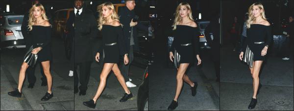 - 18.05.16 ─  Hailey Baldwin était présente a la soirée d'ouverture de la célèbre marque de glace « Magnum » à N.Y.[/s#00000ize]Hailey portait une petite robe noire ce soir là, que je n'aime pas vraiment pour le coup... Plus tard, elle est photographiée alors qu'elle quittait la soirée.  -
