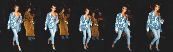 - 21.03.17 ─ Notre belle Hailey Baldwin  est photographiée alors qu'elle quittait un salon de coiffure à Los Angeles ! [/s#00000ize]Hailey B. était en compagnie de son amie Kendall Jenner lors de cette sortie ! Malheureusement elle se cache un peu. Elle n'était pas d'humeur ce jour là  -