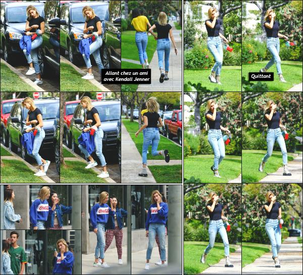 - 22.03.17 ─ Notre belle Hailey Baldwin  est photographiée alors qu'elle se baladait dans les rues de - Los Angeles ! [/s#00000ize]Hailey est aperçue a plusieurs reprise ce jour là ! Arrivant, puis quittant la maison d'un ami avec Kendall Jenner, ainsi qu'avec des fans en fin de journée !  -