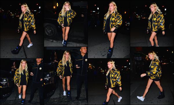 - 04.05.16 ─  Hails Baldwin est photographiée alors qu'elle se promenait tranquillement dans les rues de New York.[/s#00000ize]Hailey porte toujours cette attelle, qui doit bien l'embêter je pense !! Sa tenue est plutôt sympa, j'aime bien le look robe/basket. Je lui accorde un top ! -