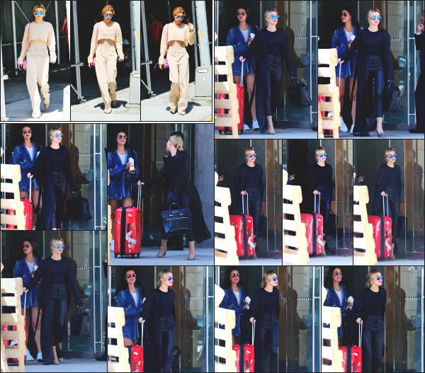 - 11.04.17 ─ Notre ravissante Hailey Baldwin  est photographiée alors qu'elle était dans les rues de New York City ![/s#00000ize]Hails à été aperçue dans la matinée, et un peu plus tard la journée, avec cette fois ci sa valise dans les mains. Elle rentre à Los Angeles pour Coachella !   -