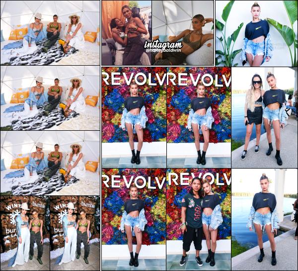 - 15.04.17 ─ Hail  était présente au célèbre festival Coachella durant ce premier week end au côté de Kendall Jenner.   [/s#00000ize]Hailey a posé pour la marque « Winter Bumbleland » au Rancho Mirage ainsi que pour « Revolve Festival » le lendemain, (16/04)  à Palm Springs ! Avis ?   -