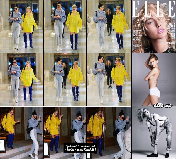 - 03.05.17 ─ La ravissante Hailey Baldwin est photographiée alors qu'elle se trouvait dans les rues de Manhattan !! [/s#00000ize]A plusieurs reprises dans la journée, nous avons pu apercevoir Hail' en compagnie de son amie Kendall Jenner dans les rues de New York. Flop la tenue.    -