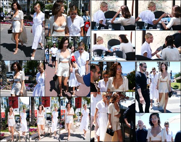 - 17.05.17 ─ La belle Hailey Baldwin est photographiée alors qu'elle allait déjeuner dans la ville de Cannes - France[/s#00000ize] Hails est donc bel et bien présente à Cannes, en compagnie notamment de l'une de ses meilleures amies, Bella Hadid. J'aime bien la tenue ! C'est un top -