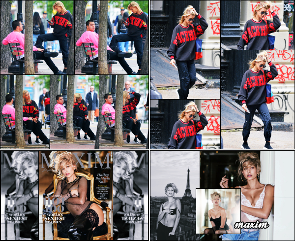 - 22.05.17 ─ Notre belle Hailey Baldwin  est photographiée, alors qu'elle se promenait dans les rues de New York ! [/s#00000ize]H profite d'un peu de temps calme avant de retourner en France. Des clichés magazine «Maxim» édition juillet 2017 sont sorties ainsi que la couverture.  -