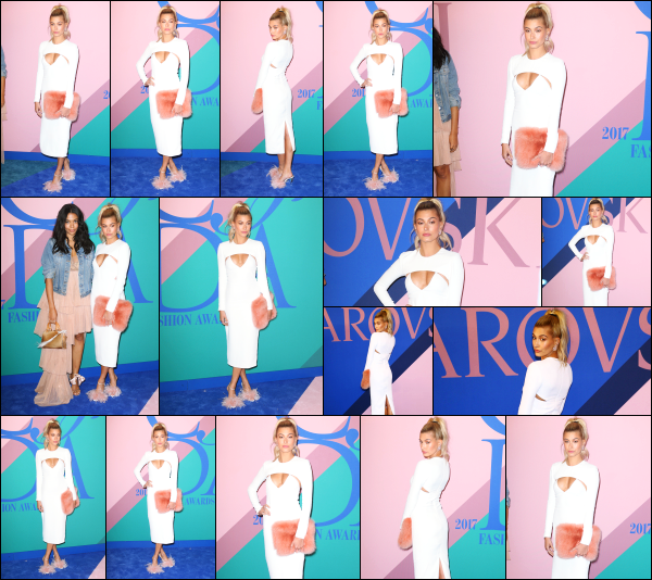 - 05.06.17 ─ Notre Hailey Baldwin était présente à l'évènement « CFDA Fashion Awards » qui avait lieu à New York.[/s#00000ize]Lors de cette soirée, plusieurs célébrités étaient présente, dont Bella Hadid ainsi que sa soeur, Gigi Hadid. La tenue d'Hailey est plutôt jolie je trouve. Top  -