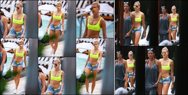 - 09.06.17 ─ Notre belle Hailey Baldwin est photographiée au bord d'une piscine dans la ville de Miami, en Floride.[/s#00000ize]Hails est à Miami pour quelques jours, certainement pour des petites vacances bien mérité ! Son maillot est plutôt sympa, la couleur lui va bien. Beau top -