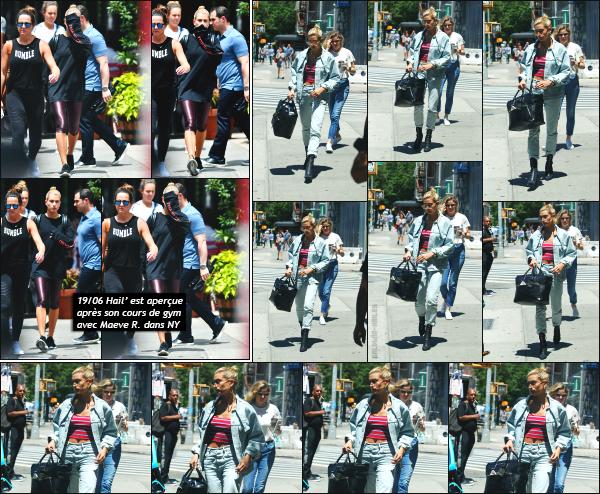 - 20.06.17 ─ Notre belle Hailey R Baldwin est photographiée alors qu'elle se promenait dans les rues de New York.[/s#00000ize]C'est dans total look jeans que nous la retrouvons, après plusieurs jours sans nouvelles!! La veille, c'est en quittant son cours de gym qu'elle à été vue.  -