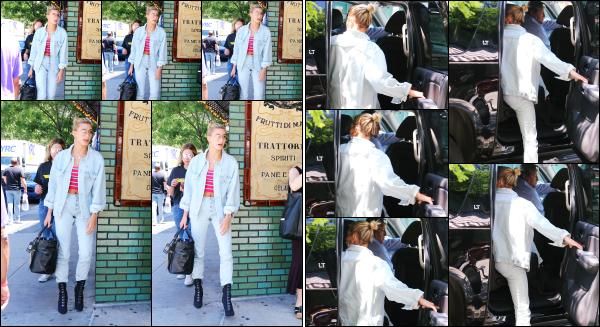 - 20.06.17 ─ La belle Hails Baldwin est photographiée alors qu'elle arrivait au restaurant « Gemma » à Los Angeles.[/s#00000ize]Plus tard, c'est en quittant ce même restaurant que nous retrouvons Hail, cette fois seule. La tenue est cool, même si c'est un peu trop jeans à mon gout. -