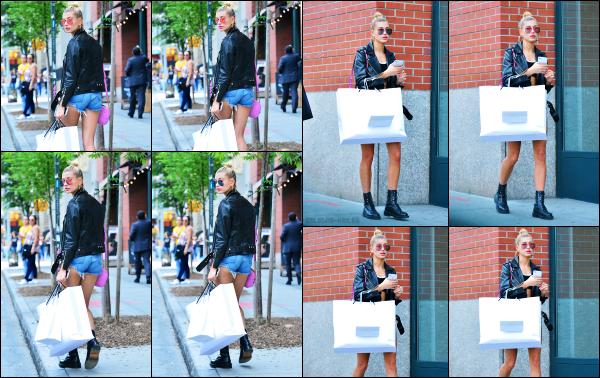 - 29.06.17 ─ Notre belle Hailey Baldwin est photographiée après avoir fait du shopping dans les rues de New York.[/s#00000ize]Une tenue plutôt simple qu'on ne voit pas entièrement malheureusement, mais l'ensemble à l'air sympa ! Hailey n'était pas très souriante... Un petit top !  -