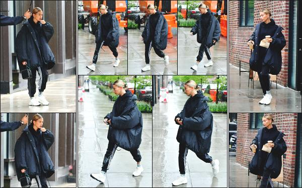 - 12.05.19 ─ Hailey B.  est aperçue alors qu'elle quittait son appartement dans le quartier de Brooklyn, à New York ![/s#00000ize]C'est sous la grosse pluie New Yorkaise que nous retrouvons Hailey B. ce jour là. Elle a aussi été aperçue en quittant Pastry Shop avec de quoi déjeuner ! -