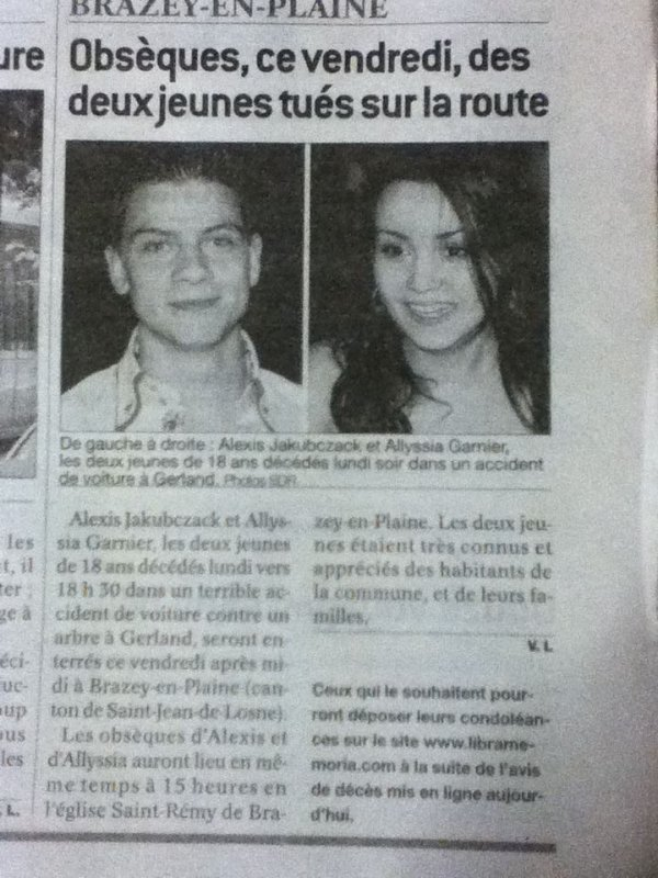 Hommage Alexis et Alyssia .
