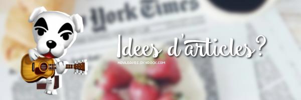 Idées d'articles?