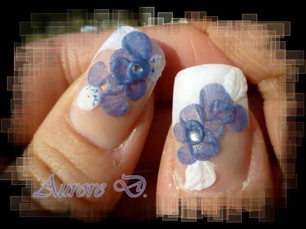 Fleur Bleue 3d