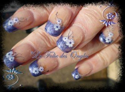 Blue jeans fleuri
