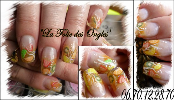 Nail art Cocktail en Folie