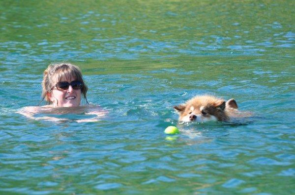 15 juillet 2013 - Baignade au plan d'eau d'Aiton