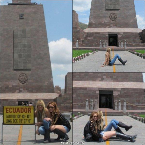 30/04/11: Coup D'envoi Du Gypsy Heart Tour  30/04/11: Miley Et Sa Mère Visitant L'Equateur