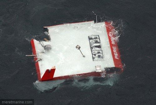Naufrage du chalutier pere milo après une collision au large de Belle-Ile
