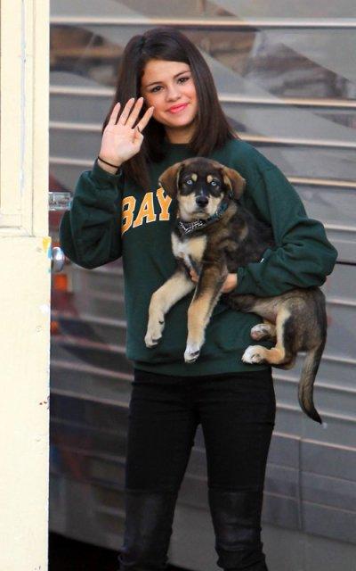 Selena et son chien Baylor
