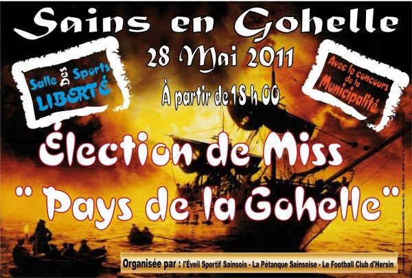 L'AFFICHE OFFICIELLE DE MISS PAYS DE LA GOHELLE 2011