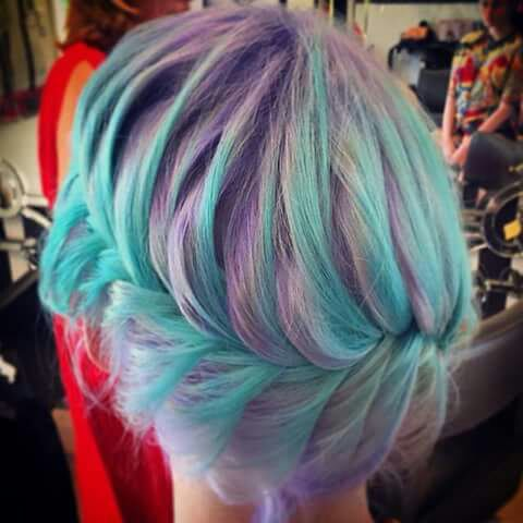 Violet et bleu! Mix!
