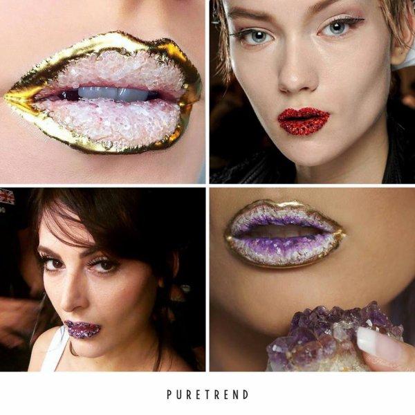 """La nouvelle tendance Instagram des """"crystal lips"""", vous aimez?"""