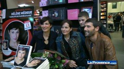 Hélène Médigue en dédicace à Marseille  L'actrice accompagnée de ses amis a votre rencontre...