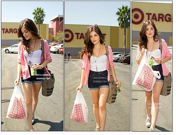 14AOUT :  Lucy sortait du magasin Target de Los Angeles