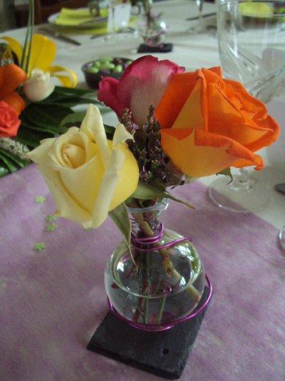 table et decoration  de communion