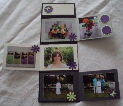 mini albun fait avec les photos de  communion