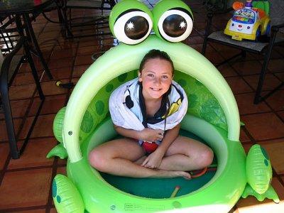 moi dans une grenouille lol