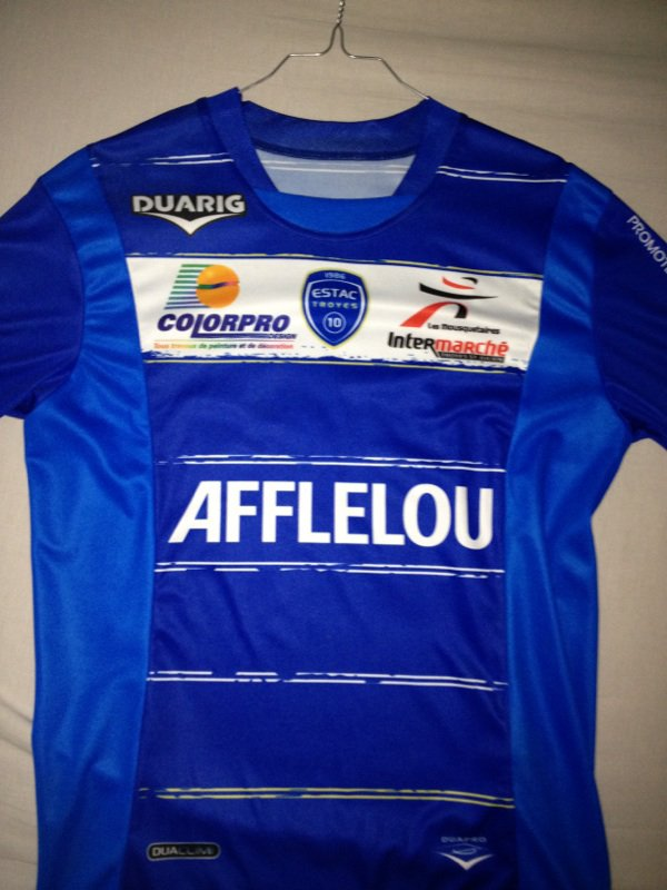 Maillot ESTAC Benjamin Nivet Ligue 1 Vs. Stade de Reims