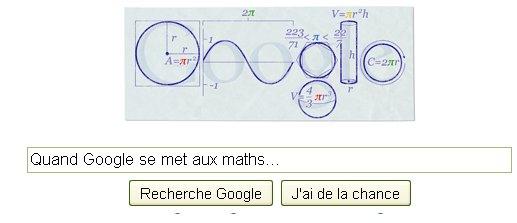 Votre page google aujourd'hui.