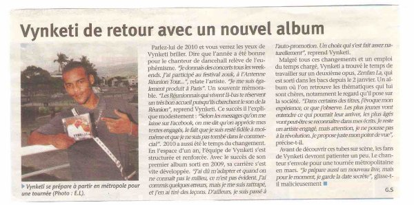 Article JIR mardi 01 02 2011 ( Merci à DJ SKAM sans qui la tournèe 2010 aurait etai plus difficil )
