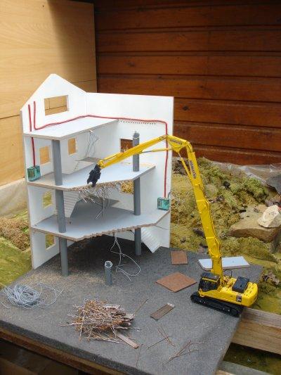 ébauche de mon diorama de demolition