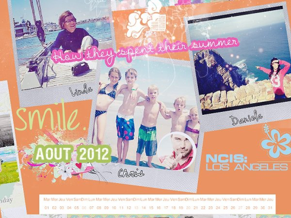 Calendrier Aout 2012
