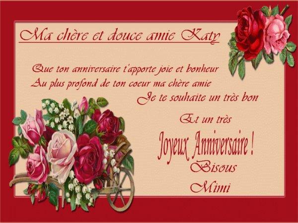 Voeux Anniversaire Pour Une Amie Très Chère Gosupsneek