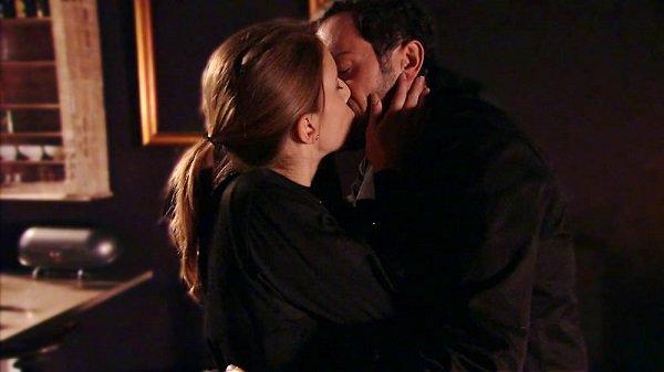 Barbara et Francesco, le baiser